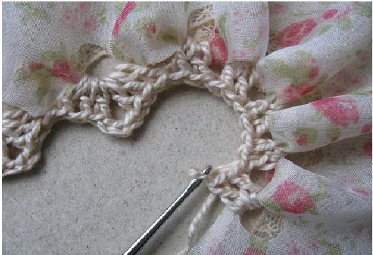 cachecolar renda Croche - pontas