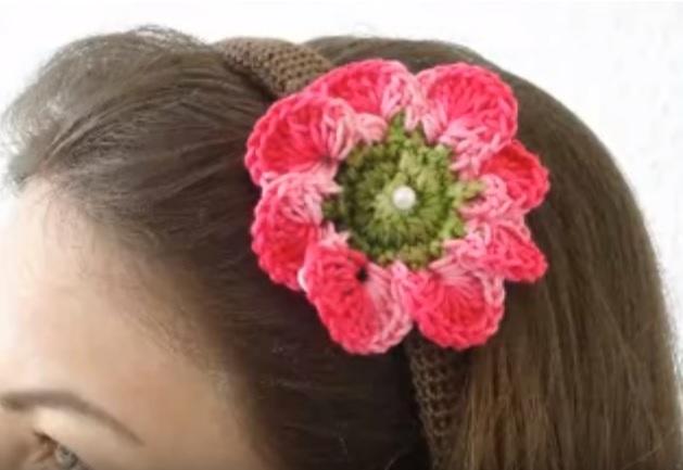 Tiara de Cabelo Em Crochê – Material e Como Fazer