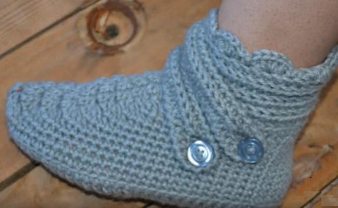 Botinha Em Crochê Para Adulto -
