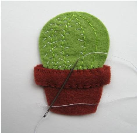Mini Cacto Em Feltro – Passo a cacto espinho