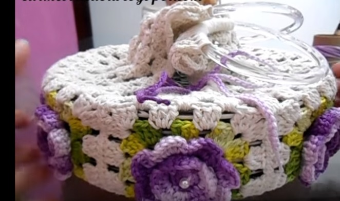 Porta Pratos Flores Em Crochê – Passo a Passo