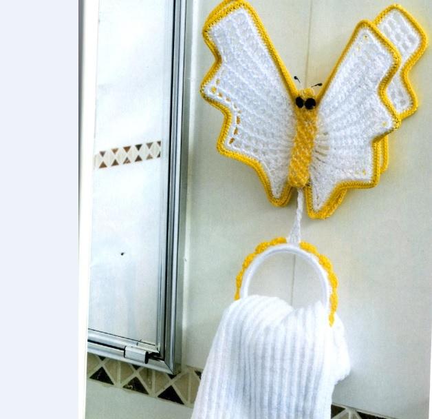 Porta Toalha Borboleta Em Crochê – Material e Receita