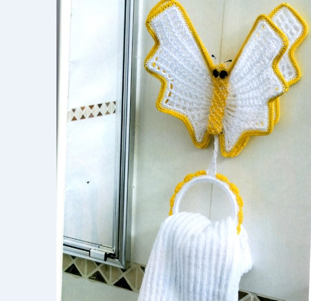 porta toalhas borboleta