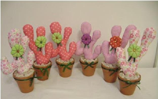 Cactus em Tecido -