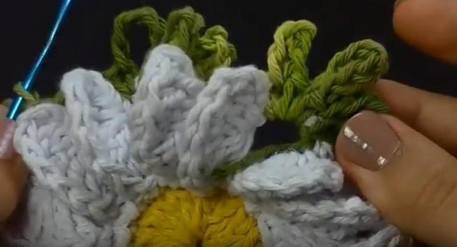 Flor Camomila em Croche -