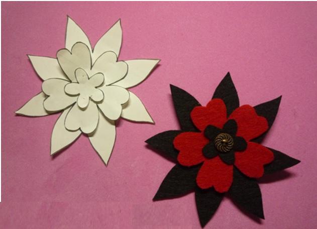 Flor em Feltro - botão