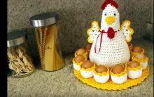 Galinha Porta Ovos Crochê – Passo a Passo