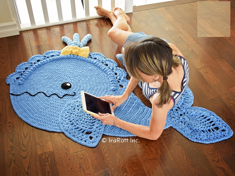 Tapete Baleia Azul – Material e Gráfico