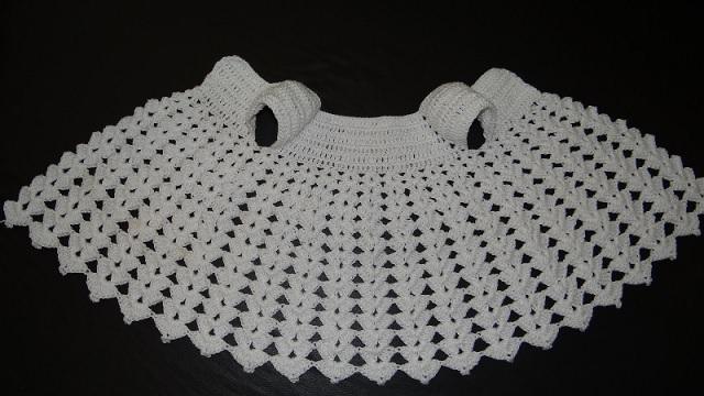 Vestido Para Bebê Em Crochê –bico