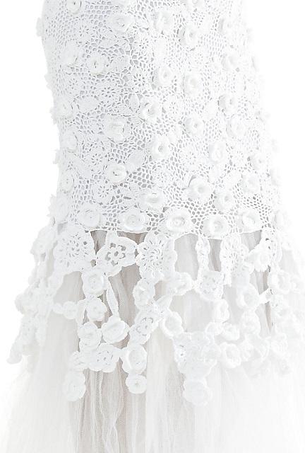 Vestido de noiva crochê,