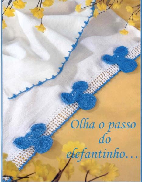 Barrado Elefantinho Em Crochê – Material Receita