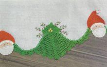 Barrado Papai Noel Em Crochê- Material e Execução
