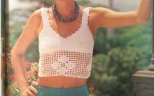 Mini Blusa Branca Em Crochê – Material e Como Fazer