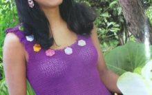 Blusa Roxa Simples Crochê – Material e Como Fazer