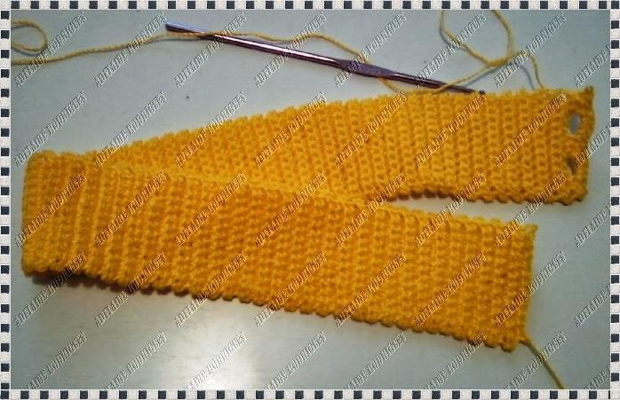 Saia Amarelo Ouro Em Crochê cos