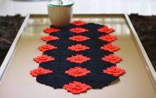 Trilho Preto de Crochê – Material, Gráfico e Como Fazer