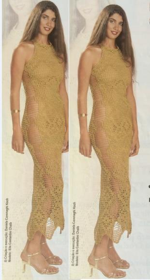 vestido-dourado-em-croche-material-como-fazer