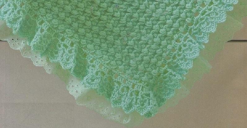 manta-verde-para-bebe-material