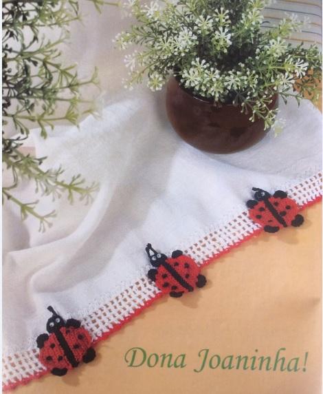 Barrado Dona Joaninha Em Crochê – Material e Como Fazer