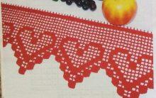 Bico Coração Em Crochê Filé – Material e Como Fazer