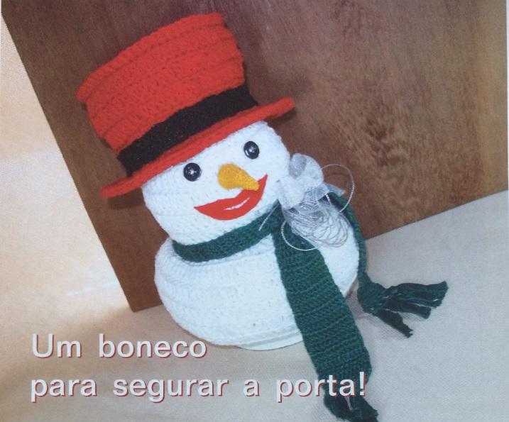 Boneco Peso Porta Natal Em Crochê – Material e Como Fazer