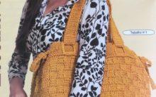 Bolsa Laranja Em Crochê – Material e Como Fazer