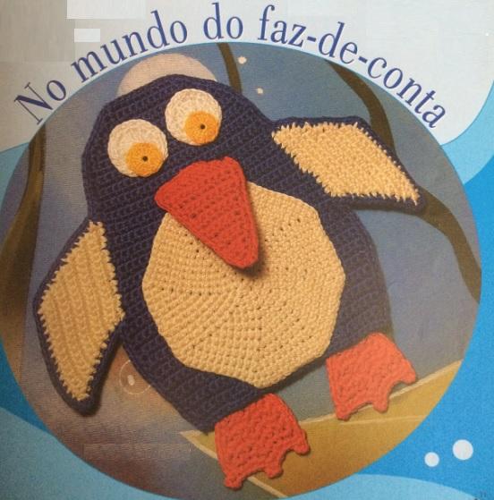 Fantoche Pinguim Em Crochê – Material e Como Fazer