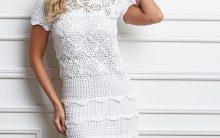 Vestido Para Festa Anne Branco Crochê – Material e Receita