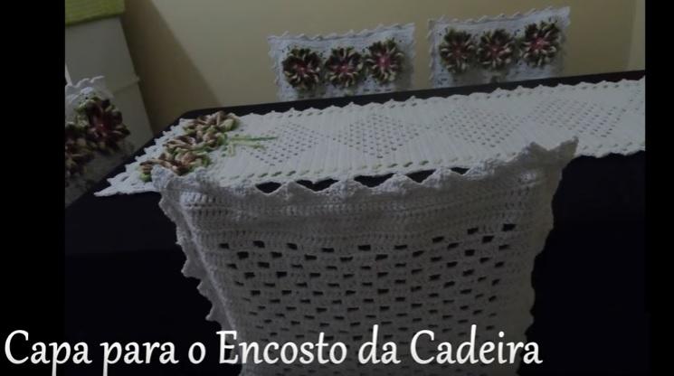 Capa Para Encosto Cadeira Em Crochê – Material e Como Fazer