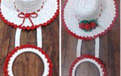 Porta Pano de Prato Chapéu de Crochê – Material e Vídeo
