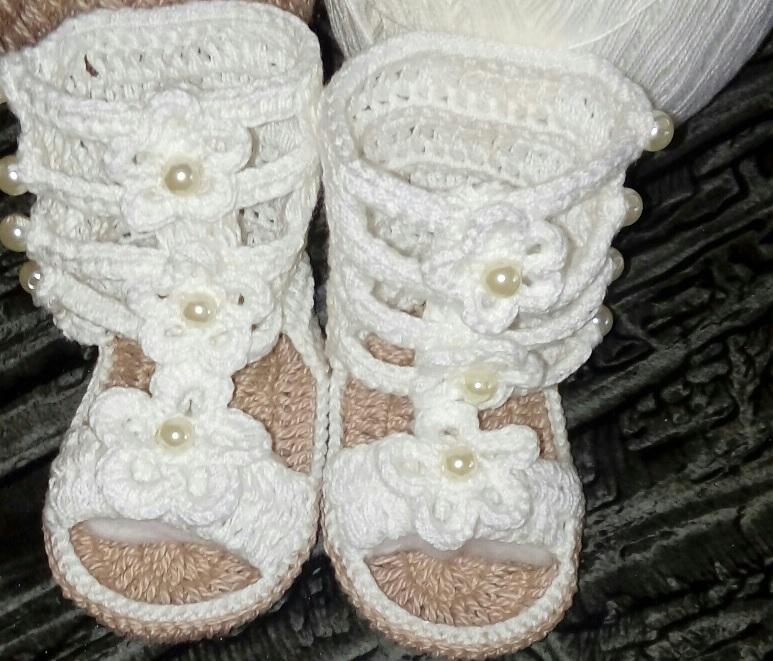 Sandália Gladiadora Em Crochê – Material e Como Fazer