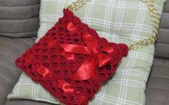 Bolsa Vermelha Duna Crochê – Material e Como Fazer