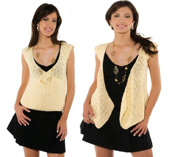 Blusa Amarela 2 Em 1 Em Crochê – Material e Como Fazer