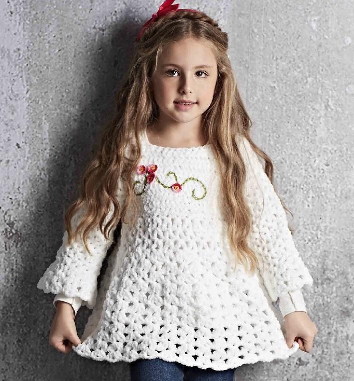 Blusa Bata Infantil Em Crochê – Material e Receita