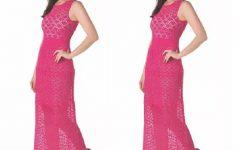 Vestido Longo Elegante Em Crochê – Material e Receita