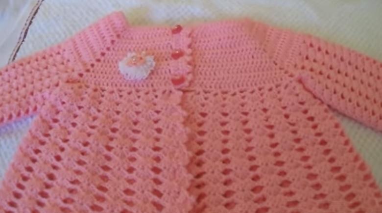 Casaquinho Esperança Para Bebê Em Crochê – Material e Vídeo