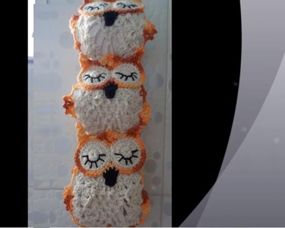 Porta Papel Higiênico Corujinha Crochê – Material e Vídeo
