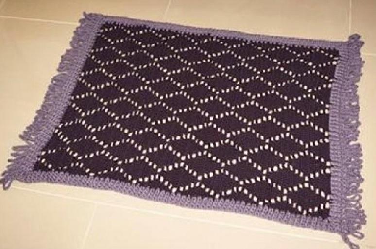 Tapete Losango Em Crochê – Material e Receita