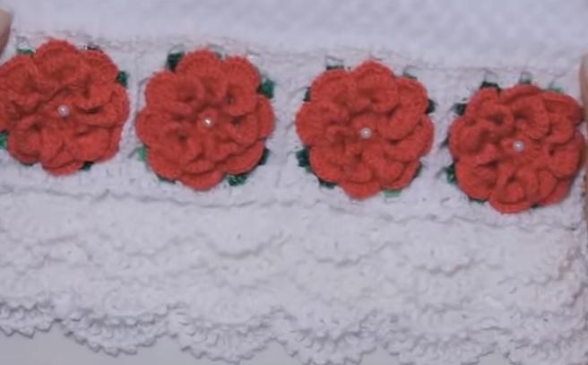Barrado Floral Em Crochê – Material e Vídeo