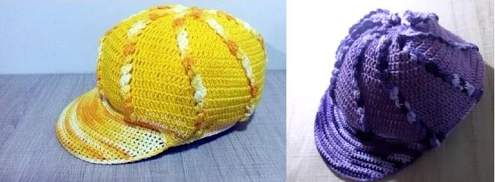 e7b2fbe836345 Boné Feminino Mimoso Crochê um lindo trabalho feito em crochê que ira  agradar aos mais jovens dando ao seu visual um destaque alegre e elegante.