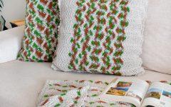 Manta e Almofada Militar de Crochê – Material e Receita