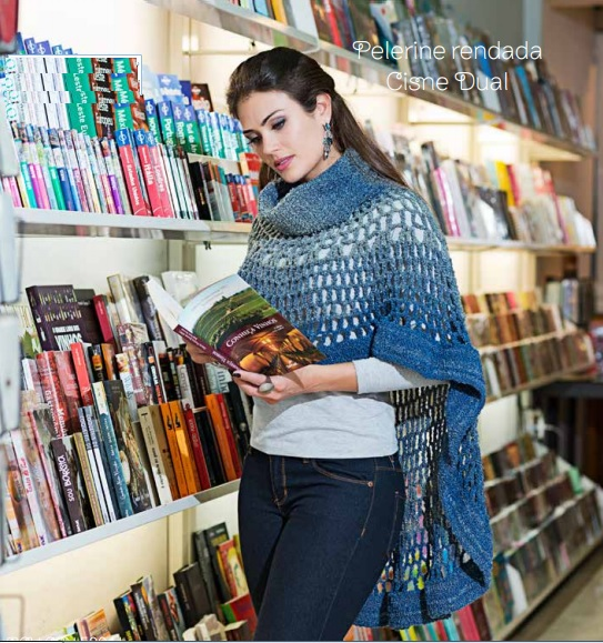 Pelerine Rendada Dual Crochê – Material e Receita