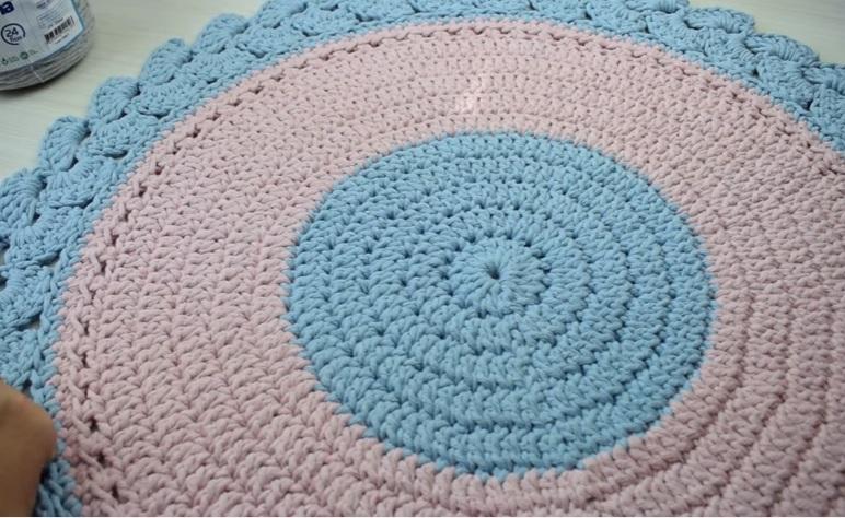 Tapete Algodão Doce Em Crochê – Material e Vídeo