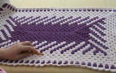 Tapete Fio Conduzido Diagonal Crochê – Material e Vídeo