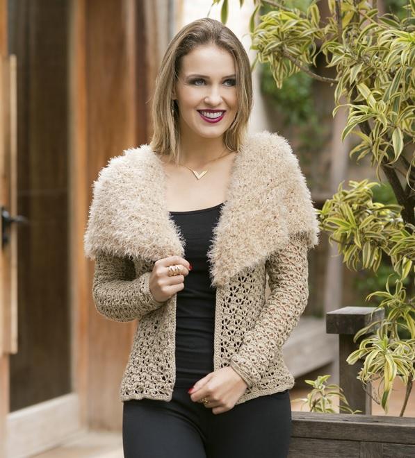 Blusa Bege Hobby Crochê – Material e Receita