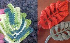 Folhas Modelos Em Crochê – Material e Vídeo
