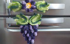 Puxador de Geladeira Uva Crochê – Material e Vídeo