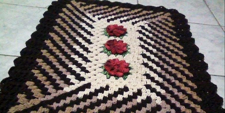 Tapete Distorção Em Crochê – Material e Vídeo