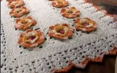 Tapete Flor de Laranjeira Crochê – Material e Vídeo