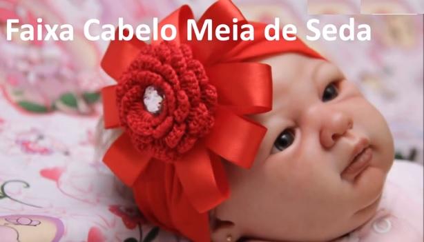 Faixa Cabelo Baby Meia de Seda – Material e Vídeo